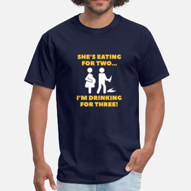 Im Drinking For Three I'm Drinking For Three! - Men's T-Shirt
