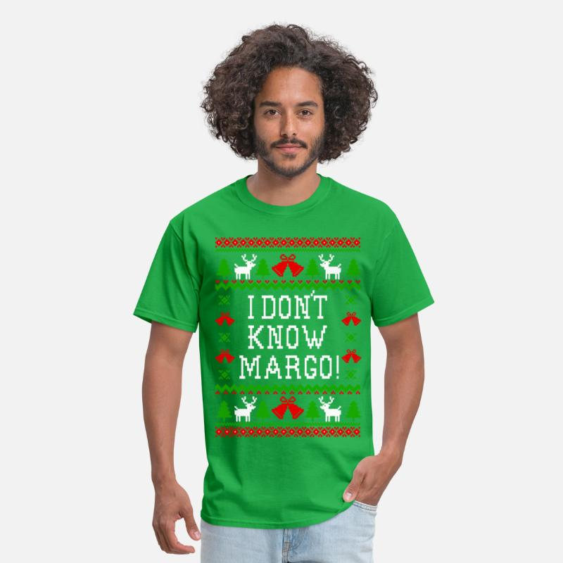 I Dont Know Margo Christmas Vacation Quote Mens T Shirt Spreadshirt