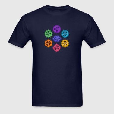 7 Chakras, Evolution, meditation, enlightenment - Men's T-Shirt