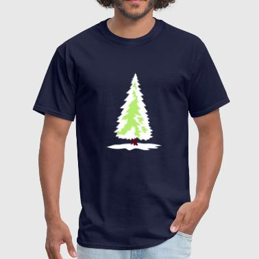white green christmas tree christmas nicholas wint - Men's T-Shirt