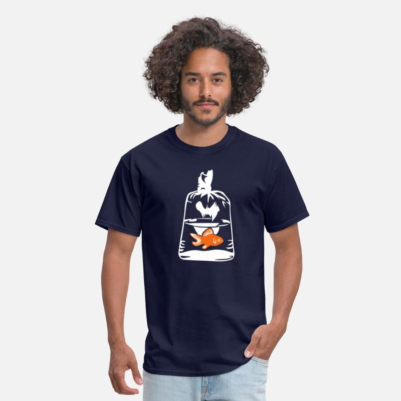 Aquarium T-Shirts - Goldfish Bag - Men's T-Shirt navy