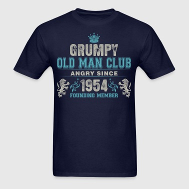 Grumpy Old Man Club Since 1954 Founder Member Tees - Men's T-Shirt