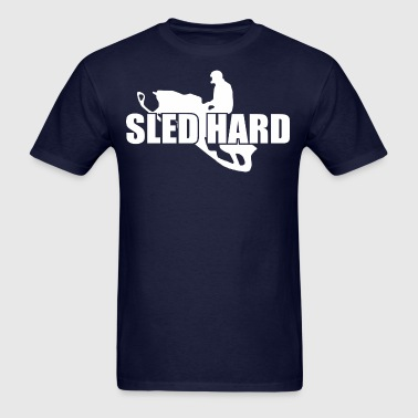 Sled Hard Snowmobile - Men's T-Shirt