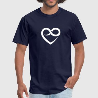 Heart Love for life Infinity - Men's T-Shirt