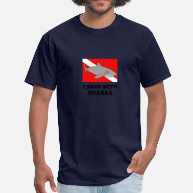Diver Sharks Shark Diver - Men's T-Shirt