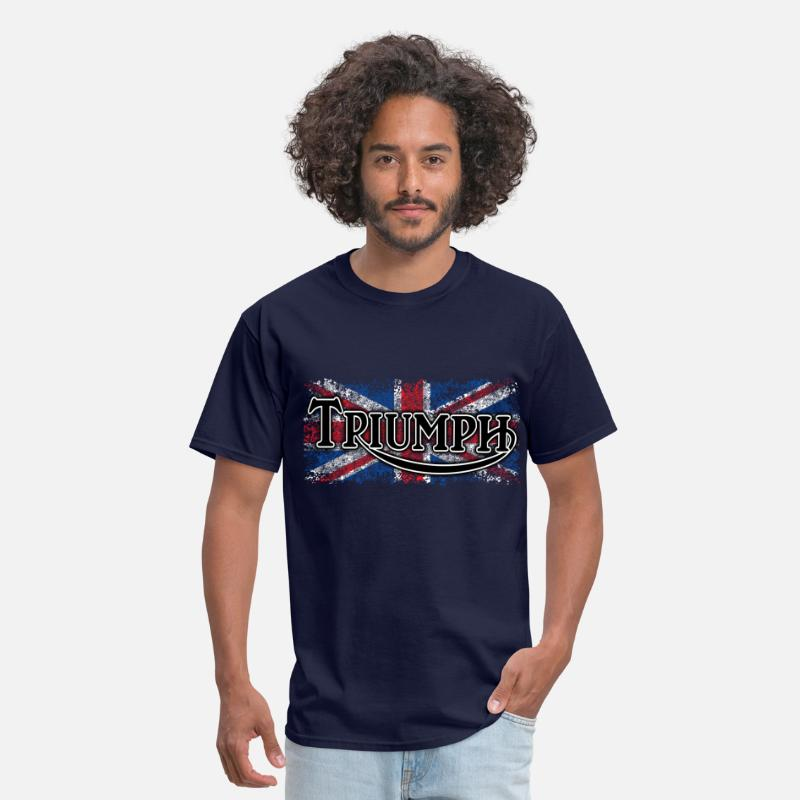 Motorcycle T-Shirts - Triumph - AUTONAUT.com - Men's T-Shirt navy