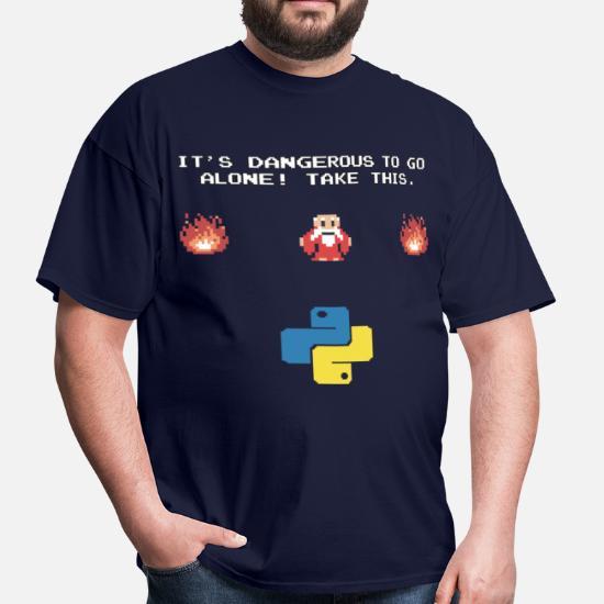 Python Programming Zelda Men's T-Shirt | Spreadshirt