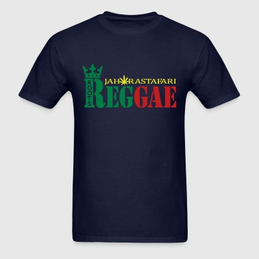 roots reggae jah rastafari - Men's T-Shirt