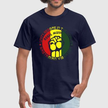 unity reggae in the world rastaman vibration - Men's T-Shirt