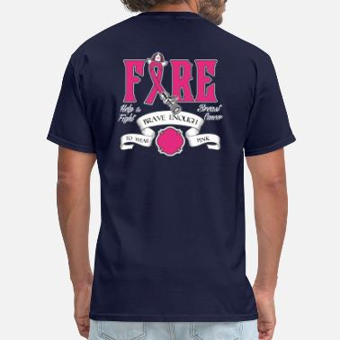 Shop Fire Department Breast Cancer T Shirts Online Spreadshirt