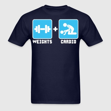 Weights and Cardio - Men's T-Shirt