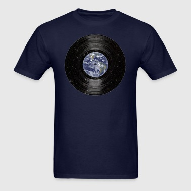 Earth In Space Vinyl LP Record - Men's T-Shirt