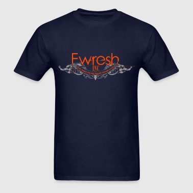 fwresh hair salon spa & barber shop logo. - Men's T-Shirt