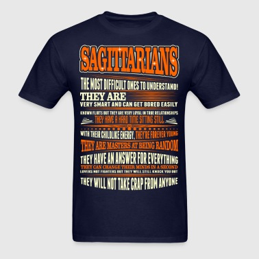 Sagittarians Difficult Ones To Understand Zodiac - Men's T-Shirt