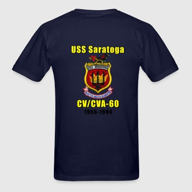 USS Saratoga CV-60 design - Men's T-Shirt