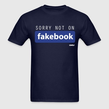 not on fakebook by wam - Men's T-Shirt