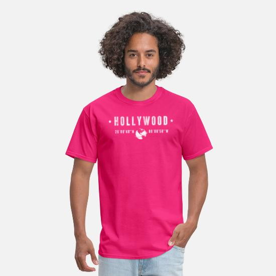Typography T-Shirts - Hollywood - Men's T-Shirt fuchsia
