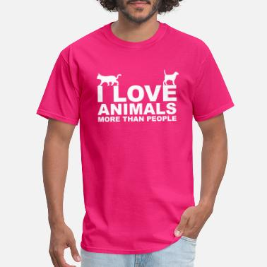 I Love Dogs Animals - Men's T-Shirt