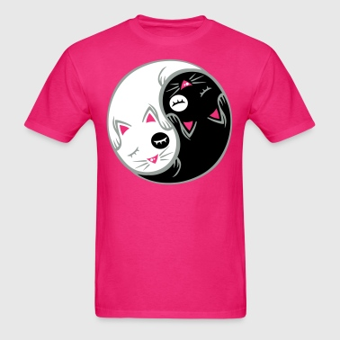 yin yang cat flex - Men's T-Shirt