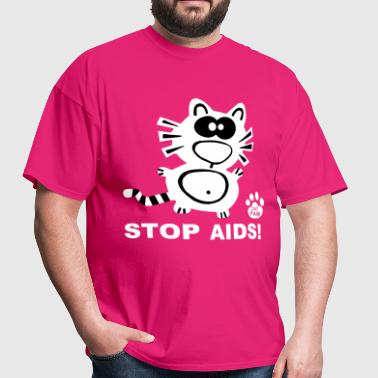Stop Aids Statement Catpaw Design Statement HIV  - Men's T-Shirt