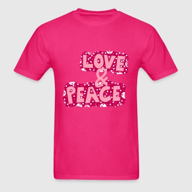 Love Peace Freedom drugs music sex rock Party Fun - Men's T-Shirt