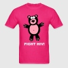 Fight Fuck HIV AIDS Bear Statement Gay Pride - Men's T-Shirt
