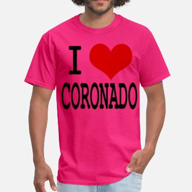 Coronado Beach I HEART CORONADO - Men's T-Shirt