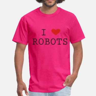 Robot Heart I Heart Robots - Men's T-Shirt