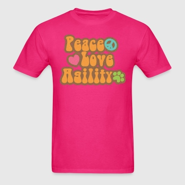 Retro Peace Love Agility - Men's T-Shirt