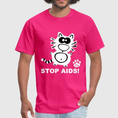 Stop Aids Stop Aids Statement Catpaw Design Statement HIV  - Men's T-Shirt