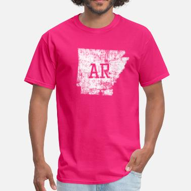 Made In Arkansas Usa Arkansas State Map Used - Men's T-Shirt