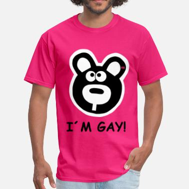 Sex Teddy Bear I'm Gay Statement Homo Teddy Bear bears Fun  - Men's T-Shirt
