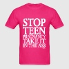 Stop Teen Pregnancy Take it in the Ass, Pixellamb - Men's T-Shirt