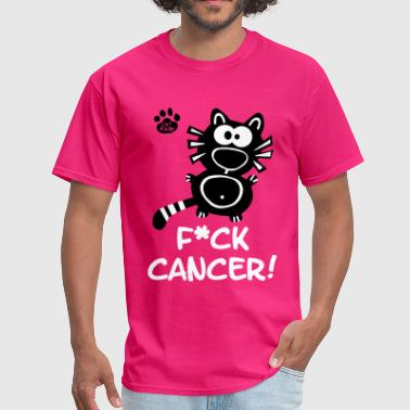 Fuck Cancer Swag Fuck Cancer Breast Cancer Cat Cats Statement Fun  - Men's T-Shirt