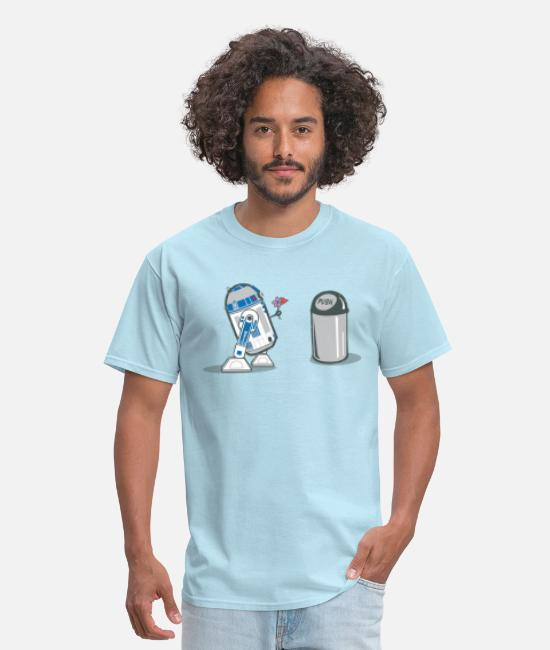 Christmas T-Shirts - robot_crush_spreadshirt - Men's T-Shirt powder blue
