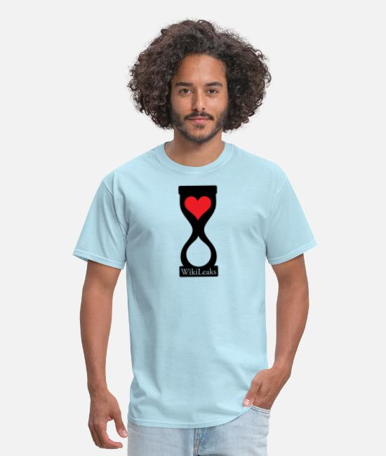Heart T-Shirts - WikILeaks heart hourglass - Men's T-Shirt powder blue