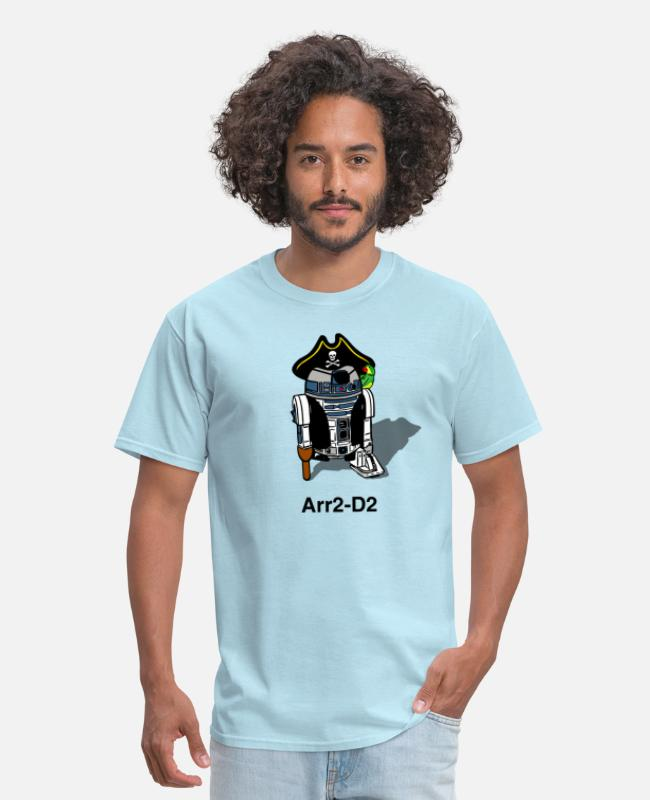 Movie T-Shirts - Pirate Droid Arr2-D2 - Men's T-Shirt powder blue