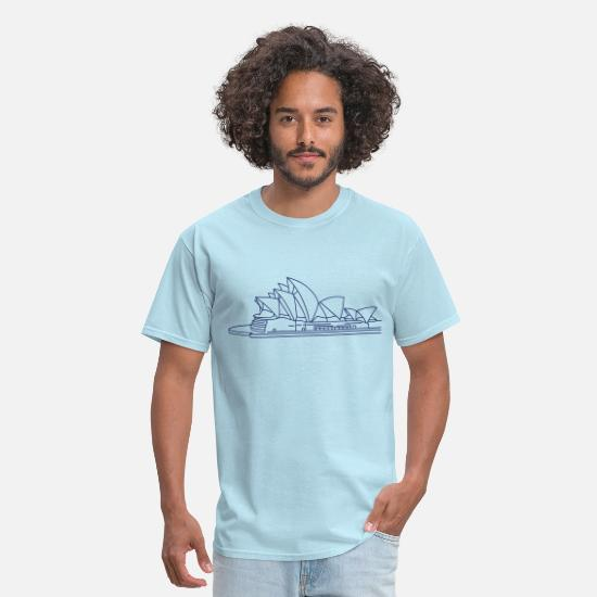 House T-Shirts - Opera House in Sydney - Men's T-Shirt powder blue
