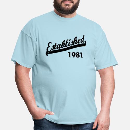 34f1999fa0 Established 1981 Men s T-Shirt