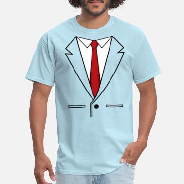 The Office Suit and Red Tie - Men's T-Shirt