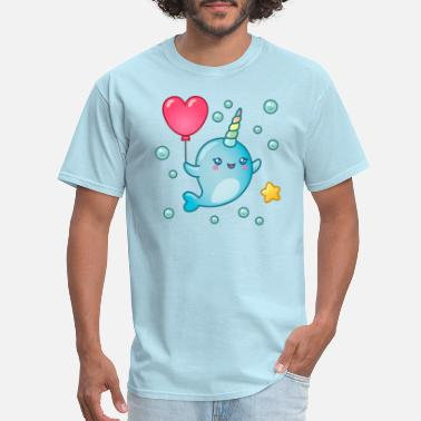 Kawaii Kawaii Narwhal - Men's T-Shirt