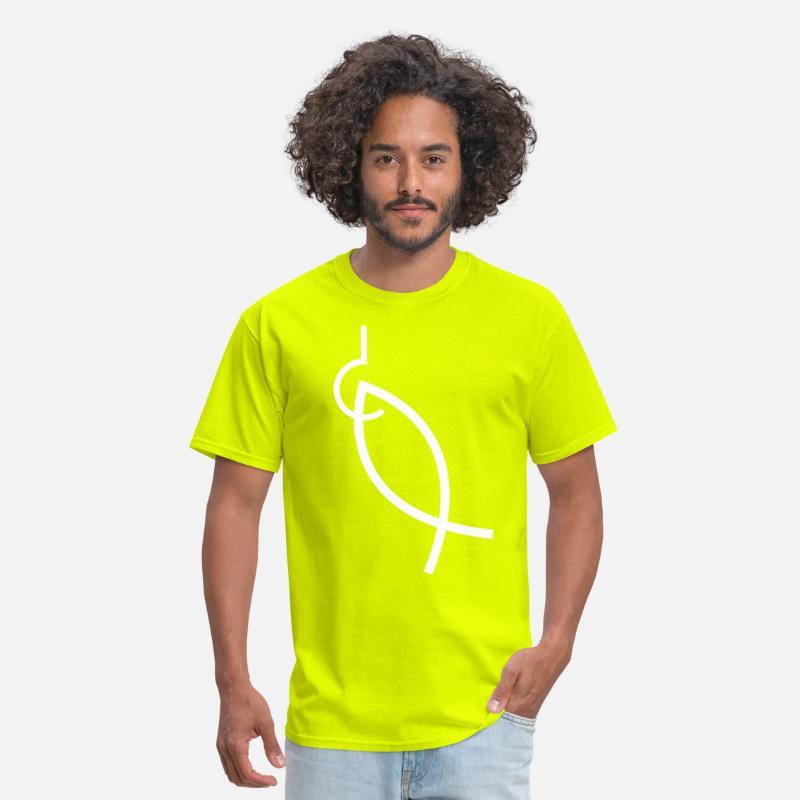 40d1d074 Hooked ichthys fish Men's T-Shirt | Spreadshirt