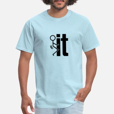 Comical Shirt Mens Screw It Fuck It Stick Figure Shirt Tank Top