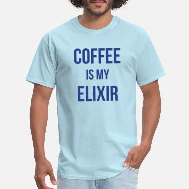 Color Change COFFEE IS MY ELIXIR - Men's T-Shirt