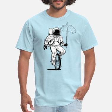 Black And White Collection Weird astronaut on a monocycle - Men's T-Shirt