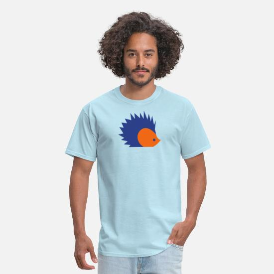 Animal T-Shirts - little spike porcupine - Men's T-Shirt powder blue