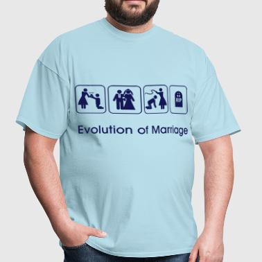 Evolution of Marriage - Men's T-Shirt