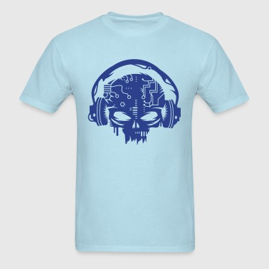 cyber Skull with headphones - Men's T-Shirt