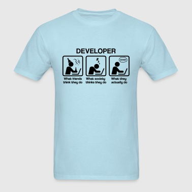 developer - What do you think they do? - Men's T-Shirt