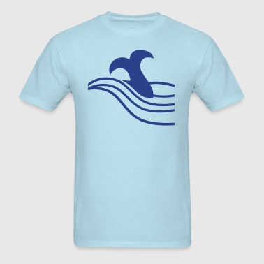 whale tail on the ocean waves - Men's T-Shirt